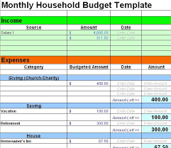 Household Budget Template Excel Excel Budget Template Organization Excel Budget