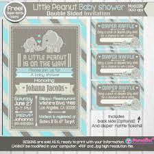 copy of printable little peanut baby shower invitation free