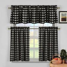 Yellow Kitchen Curtains Valances Black White And Yellow Kitchen Curtains Gopelling Net