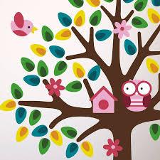 girls nursery tree wall sticker mirrorin notonthehighstreet girls nursery tree wall sticker