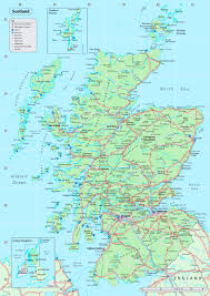 map of and scotland detailed map of scotland