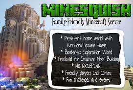 mine craft servers indiesquish child friendly minecraft community