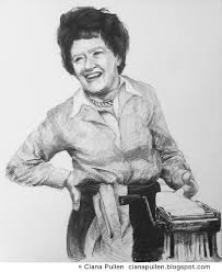 post julia child drawing by ciana pullen