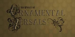 ornamental versals font dafont