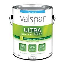 shop valspar ultra 4000 ceiling white flat latex interior paint