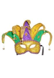 mardi mask brand new mardi gras masquerade jester mask purple green gold