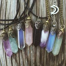 boho stone necklace images Stone crystal pendant jewelry necklaces rose quartz jpg