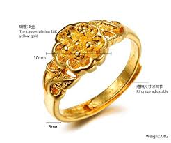 finger ring designs for 2014 best sell charm 18k flower finger gold ring design
