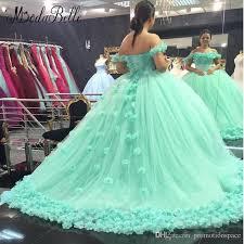 mint green wedding 2017 stunning mint green wedding dresses with flowers arab wedding