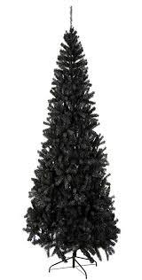 Black Christmas Tree Uk - 2 1m 7ft premium slimline black christmas tree amazon co uk