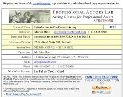 online confirmation class help paying online using paypal