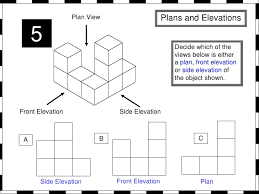 side elevation plans and elevations from whiteboard maths