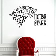 aliexpress com buy jjrui direwolf game of thrones wall sticker