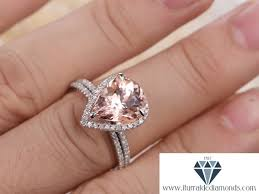 morganite pear engagement ring 10x12mm pear shape morganite engagement ring white gold matching
