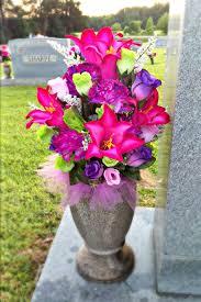 cemetery vase summer cemetery vase arrangement grave flower