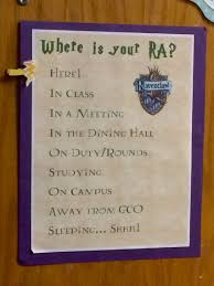 harry potter themed where am i board resident assistant where is your ra door dec harry potter doesn t have to be harry potter themed just something nice to have on the door to your bedroom