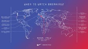 Live Time Zone Map by Nike Announces Its Breaking2 Race Date And What You Need To Know