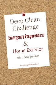deep clean challenge emergency preparedness and home exterior