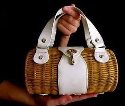 kate spade tisbury monaco roll bag summer wicker purse patent