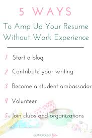How To Write An Acting Resume With No Experience Best 25 Resume Tips No Experience Ideas On Pinterest Resume