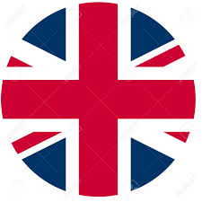 Flag With Red Circle Union Jack Flag Of The Uk In A Circle Stock Photo Picture And
