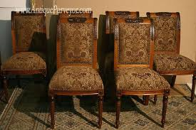 stylish custom upholstered dining chairs with french style
