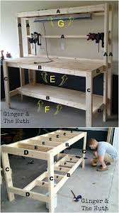 Plans For A Wooden Bench With Storage by Best 25 Garage Workbench Ideas On Pinterest Workbench Ideas