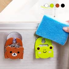 kitchen cabinet sponge holder pp cartoon towel rack kitchen cupboard hanging wash cloth organizer