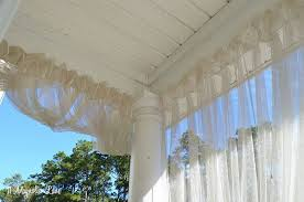 How To Hang Sheers And Curtains Diy Screened Porch