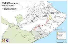 Hawaii Big Island Map June 27 Lava Flow Update 1 5 15 Big Island Now
