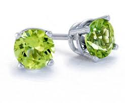 peridot stud earrings 1 00 carat tw peridot stud earrings in sterling silver netaya
