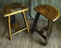 barrel stave stool pair reel barrels