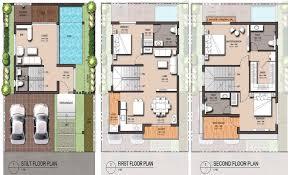 triplex house plans india arts