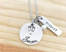 baby name necklaces new necklace etsy