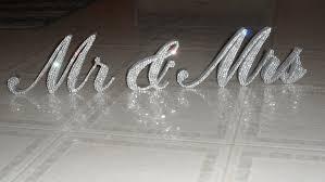 mr and mrs sign for wedding swarovski mr mrs standing wedding
