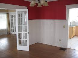 Dining Room With Wainscoting White Wainscoting With Wood Trim Dining Room Traditional With