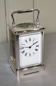 Large Silver Mantel Clock Antiques Atlas Large Silver Plated Carriage Clock