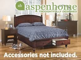 aspen home cambridge panel bed with storage brown