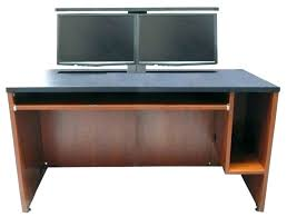 computer desk for 2 monitors computer desk for two monitors image of gaming computer desks and