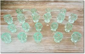 sea glass door knobs green glass cabinet knobs
