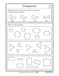 3rd grade math worksheets congruent shapes 3rd grade greatschools