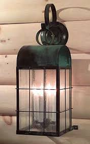 Colonial Outdoor Lighting Handcrafted Copper Colonial Style Outdoor Lighting
