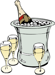 champagne glass cartoon clipart champagne on ice