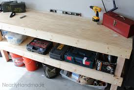 Bench For Working Out Nearly Handmade Building A Work Bench For The Husband