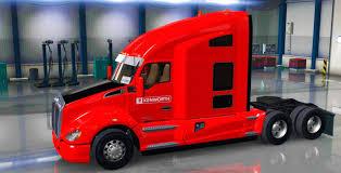 kenworth 2017 kenworth t680 black red skin mod ats american truck simulator