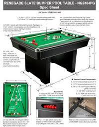 renegade 54 in slate bumper pool table pool warehouse