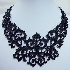 black necklace images New hot black elegant fashion court necklace chunky necklace in jpg