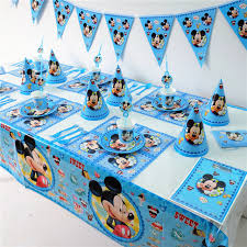 birthday party supplies disney mickey mouse kids birthday party decoration set