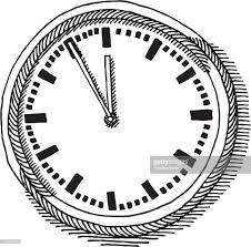 wall clock drawing vector art getty images