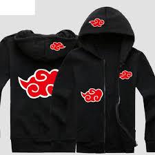naruto akatsuki pullover cardigan hoodie only 61 32 naruto fan